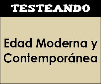 La Edad Moderna y Contemporánea. 6º Primaria - Conocimiento del medio (Testeando)