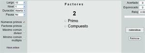 Ejercicios de Factores: números y factores primos, Máximo común divisor y Mínimo común múltiplo