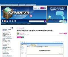 Adiós Google Wave: el proyecto es abandonado (genbeta)