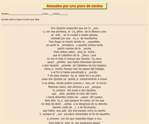 112ª Ficha de ortografía de Don Quijote de la Mancha