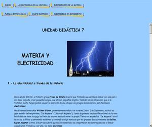 Materia y electricidad