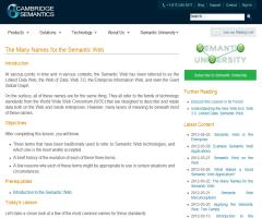 The Many Names for the Semantic Web