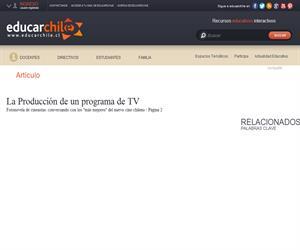 La Producción de un programa de TV (Educarchile)