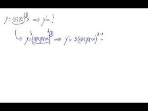 Derivada - Potencia de función trigonométrica inversa