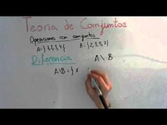 13 Teoria de Conjuntos || Diferencia de Conjuntos