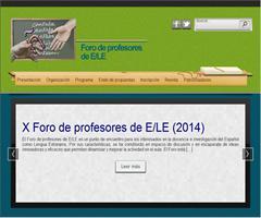 X Foro de profesores de ELE
