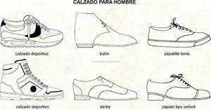 Calzado hombre (Diccionario visual)