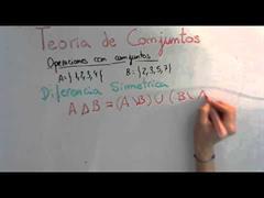 14 Teoria de Conjuntos    Diferencia Simétrica