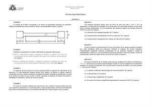 Examen de Selectividad: Tecnología industrial. Asturias. Convocatoria Junio 2013