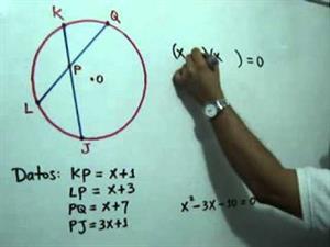Cuerdas que se cortan en una circunferencia. Parte 2 de 2 (JulioProfe)