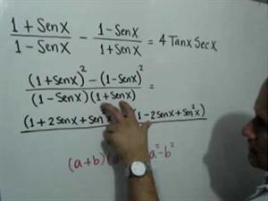 Comprobación de una Identidad Trigonométrica (JulioProfe)