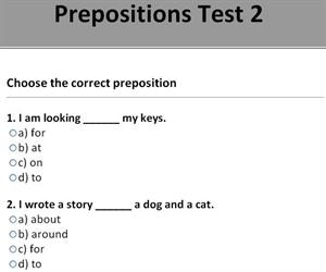 Prepositions. Grammar and practice (learnenglish-online.com)