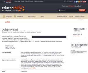 Química virtual (Educarchile)