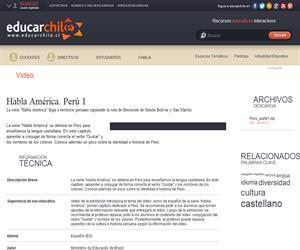 Habla América. Perú 1 (Educarchile)