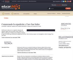 Capítulo 2. Comenzando la expedición y Faro San Isidro (Educarchile)
