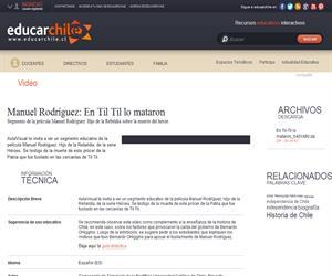 Manuel Rodríguez: En Til Til lo mataron (Educarchile)