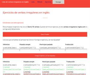 Ejercicio de verbos irregulares en inglés