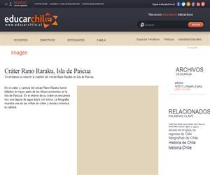 Cráter Rano Raraku, Isla de Pascua (Educarchile)