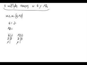Cálculo de múltiplos comunes de números