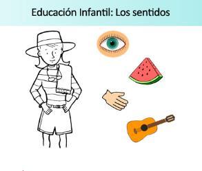 Ficha de actividades sobre los sentidos