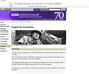 El inglés en las noticias