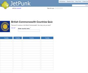 British Commonwealth Countries Quiz