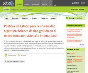 Políticas de Estado para la universidad argentina: balance de una gestión en el nuevo contexto nacional e internacional