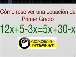 Ecuación de primer grado, transposición de términos