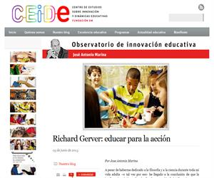 Educating for action; the educational model of Richard Gerver