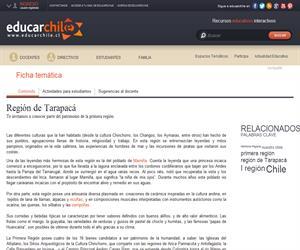 1era Región Patrimonio Regional (Educarchile)