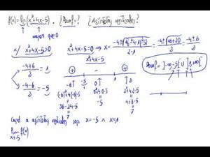 Dominio y asíntotas verticales de una función