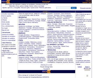 FisicaNet. Apuntes, ejercicios y monografías para todos los niveles