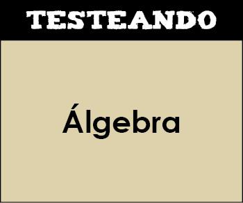 Álgebra. 2º ESO - Matemáticas (Testeando)
