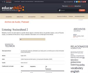 Listening: Sociocultural 2 (Educarchile)