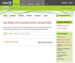 Blogs: producciones compartidas