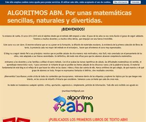 ALGORITMOS ABN. Por unas matemáticas sencillas, naturales y divertidas.