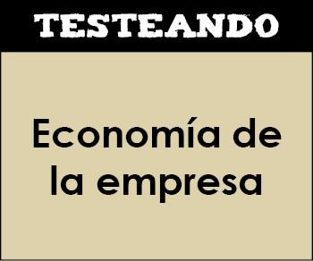 Economía de la empresa - Asignatura completa. 2º Bachillerato (Testeando)