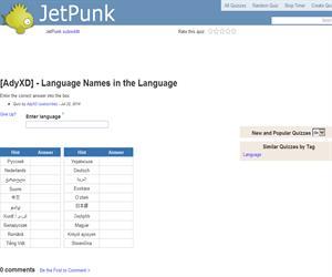Language Names in the Language