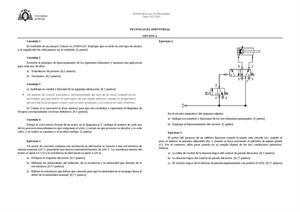 Examen de Selectividad: Tecnología industrial. Asturias. Convocatoria Julio 2013