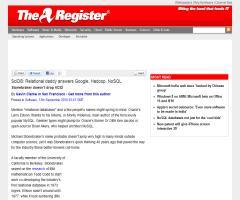 Entrevista a Mike Stonebraker en The Register: Relational daddy answers Google, Hadoop, NoSQL