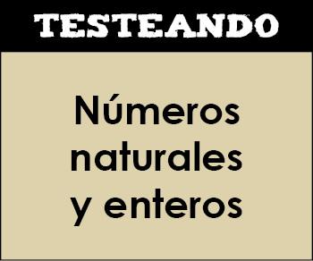 Números naturales y enteros. 1º ESO - Matemáticas (Testeando)
