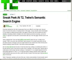 Sneak Peek At T2, Twine's Semantic Search Engine