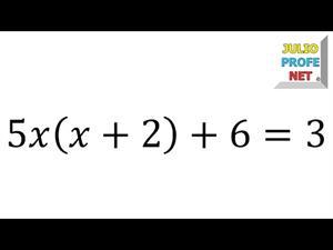 Solución de una ecuación cuadrática  (JulioProfe)