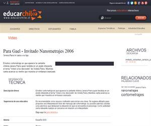 Para Gael - Invitado Nanometrajes 2006- (Educarchile)
