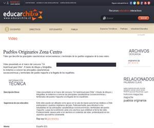 Pueblos Originarios Zona Centro (Educarchile)