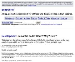 """Semantic Code: What? Why? How?"", artículo de Paul Boag en su blog Boagworld"