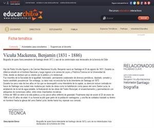 Vicuña Mackenna, Benjamín (1831 - 1886) (Educarchile)