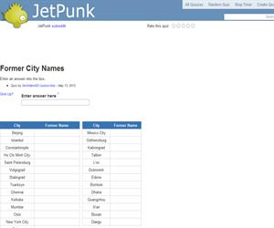 Former City Names