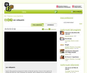 Les webquests (Edu3.cat)