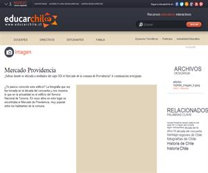 Mercado Providencia (Educarchile)